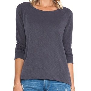 JAMES PERSE Grey Raglan Pullover Longsleeve Shirt